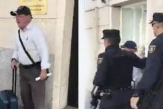 Así le da este señor la bienvenida al rufián de Gabriel a su llegada a Madrid