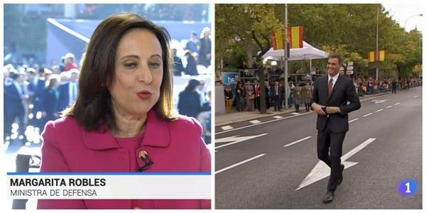 El guiño de Margarita Robles a los golpistas para el Día de la Hispanidad que tiene al Ejército español sublevado