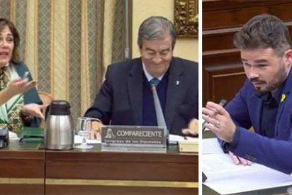 Salvaje bronca en el Congreso: Beatriz Escudero (PP) se larga de la comisión después de que Rufián le guiñe un ojo