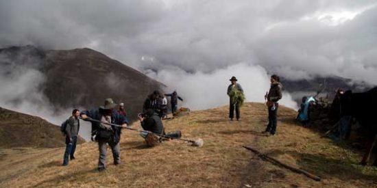 Rodando en la cima de Los Andes