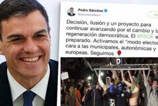 Pedro Sánchez dice que está 'ilusionado' mientras los CDR asaltan el Parlament, cortan el AVE y pisotean la bandera española