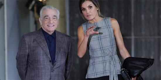 La Reina Letizia hace de anfitriona del genial Martin Scorsese