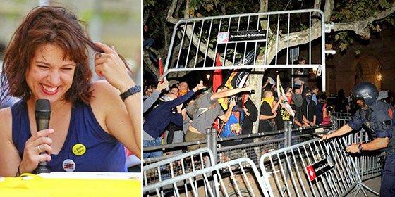 """A la descarada Beatriz Talegón le dan lo suyo por cruzar la línea roja: """"Lanzar botellas a los mossos no es violencia"""""""