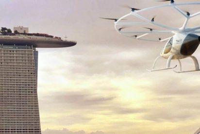 ¡Así serán los taxis aéreos en Singapur!