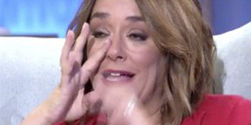 Toñi Moreno no logra contener las lágrimas entrevistando a Pau Donés