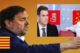 El golpista Junqueras manda a Pablo Iglesias que pase recado a Pedro Sánchez de que ya se puede ir 'bajando los pantalones'