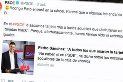 Sánchez dice 'nunca seremos iguales' que Rato… ¡¡¡y los del PSOE tienen 12 condenados por las black!!!