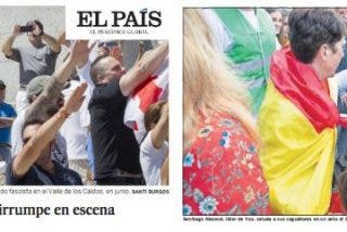 El País cae en lo más bajo ridiculizando a Santi Abascal (VOX) con una foto de franquistas con el brazo en alto