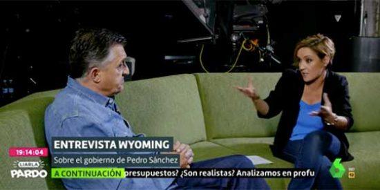 """Cristina Pardo traga con la demagogia socialista de la estrella de su cadena: """"¿Delgado no tiene derecho a desahogarse en una cena?"""""""