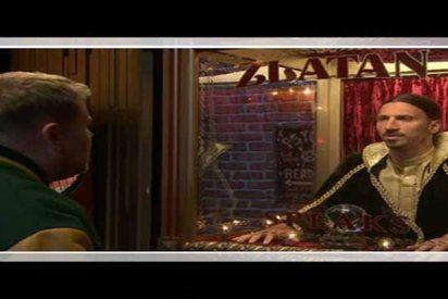 Vídeo: Las payasadas de Zlatan Ibrahimovic en el show de James Corden