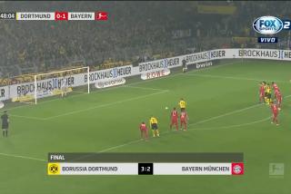 El Borussia Dortmund gana al Bayern Múnich en el clásico de Alemania (3-2)