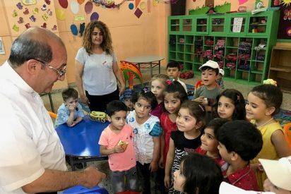 Cocido solidario para salvar la educación durante un curso de 98 menores refugiados iraquíes en Jordania