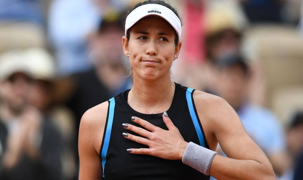 Una lesión muscular 'elimina' a Garbiñe Muguruza del Mutua Madrid Open