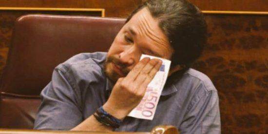 Un tuitero desmonta con un dato clarificador la hipocresía de Pablo Iglesias cuando critica a los empresarios por fomentar la precariedad laboral