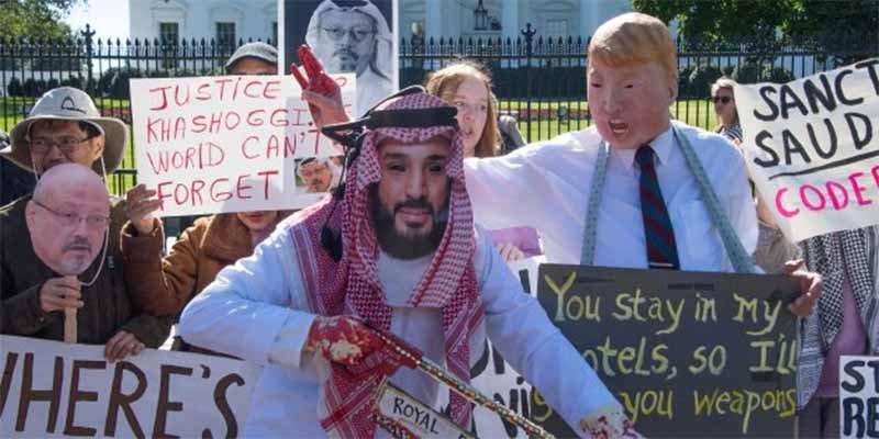 Donald Trump sólo piensa en la 'pasta' y minimiza la implicación del príncipe saudí en el atroz asesinato de Khashoggi