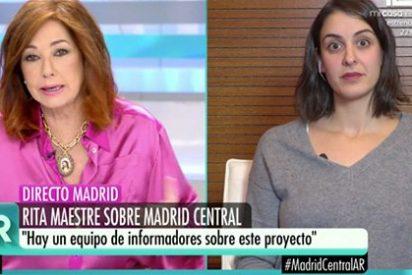 """Ana Rosa hunde a Rita Maestre con su Madrid Central y su página web: """"¡Os habéis precipitado por las elecciones y la calle es un clamor!"""""""