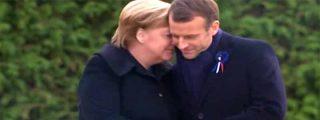 Merkel y Macron se reúnen en el 'Vagón del Armisticio' donde Alemania prusiana capituló ante los aliados en 1918