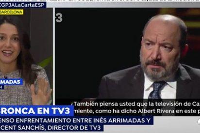 """Inés Arrimadas no va a parar contra TV3: """"El director es un portavoz de Puigdemont, no es un periodista sino un hooligan"""""""