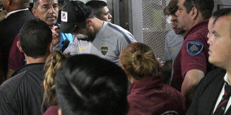 Así quedó la cara del capitán del Boca tras la agresión sufrida antes de la final de la Copa Libertadores