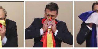 Polònia (TV3) toca las narices con un homenaje a Dani Mateo limpiándose los mocos en banderas de España y Cataluña