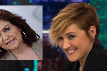 Así fue la contundente respuesta de Cristina Pardo a la mamarrachada de Carmen Calvo