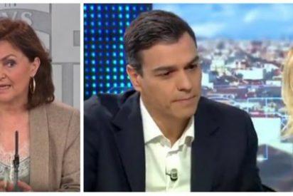 """Carmen Calvo nos toma por imbéciles y la vídeoteca la deja retratada: """"Pedro Sánchez nunca vio rebelión en Cataluña"""""""
