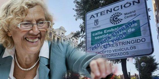 Carmena gastará 8,4 millones en 53 cámaras nuevas para Madrid Central mientras otros se mueren de frío en las calles