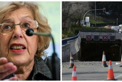 Los túneles de Carmena no tienen solución: La lluvia obliga a cortar de nuevo varios túneles y provocan numerosos atascos