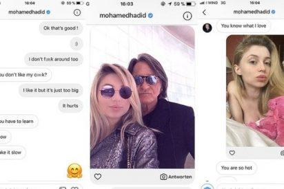 Los chats sexuales que demuestran la relación entre una inocente modelo y el padre de Gigi y Bella Hadid