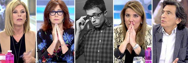 """En Telecinco fulminan al 'bien nutrido' 'beca black' Errejón: """"Ignorante, radical, mentiroso, abyecto"""""""