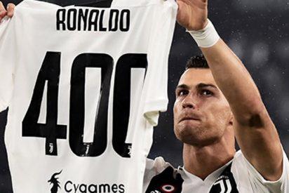 La Juventus rinde homenaje a CR7 por sus 400 goles en ligas europeas