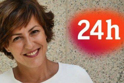 """El """"periodismo alcachofa"""" de Cristina Ónega le hace perder al 24 horas de TVE la mitad de su audiencia"""