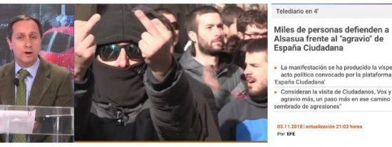 """Carlos Cuesta destroza a TVE: """"Los de las camisetas negras, creo que están atascadas a la tintorería"""""""