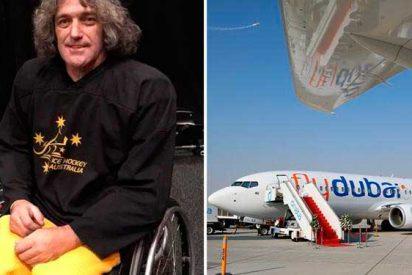Obligan a un deportista parapléjico a orinar en una botella durante un vuelo