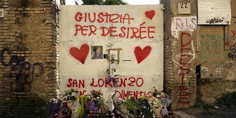 La cruel y abominable frase de uno de los asesinos y violadores de Desirée Mariottini, la niña abusada en Roma