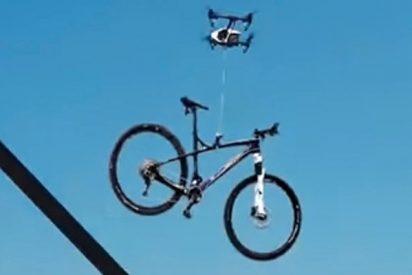 (VIDEO):¡Atrapen al dron ladrón!Increíble robo de una bicicleta con un vehículo no tripulado
