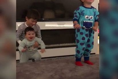El hijo de Messi lo peta en las reses bailando al ritmo de 'Sexy and I know it'