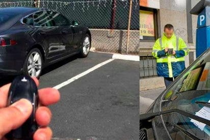 Así es como el dueño de un Tesla evita ser multado en el aparcamiento