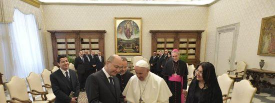 """El Papa, al presidente de Irak: """"Que todos los cristianos obligados a abandonar su tierra puedan regresar"""""""