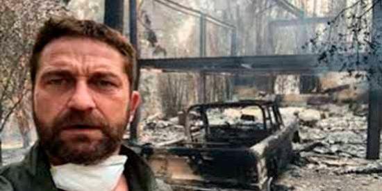 Así quedó la casa de Gerard Butler tras los incendios en California