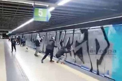 Las bandas de grafiteros asaltan el Metro de Madrid por cuarta noche consecutiva