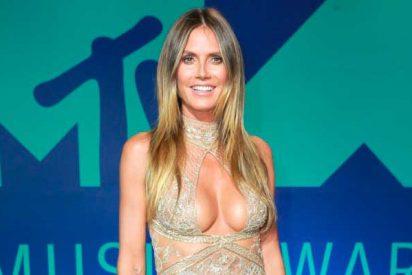 La top model Heidi Klum posa completamente desnuda para deleite de sus fans