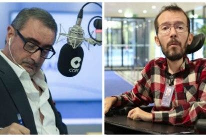 """Carlos Herrera le recuerda al """"lince"""" mentiroso de Echenique que votó a favor de expoliar a los ciudadanos con más impuestos"""