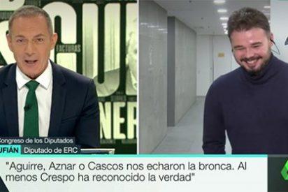 ¡Qué asco! Hilario Pino, de colegueo con Rufián en laSexta, se pasa de bocachancla por enmerdar a Rajoy