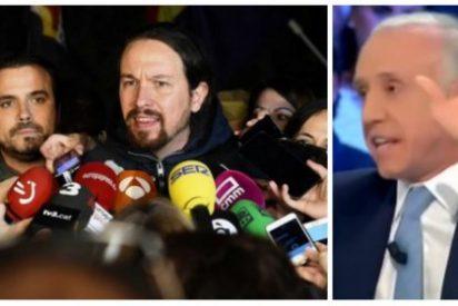 El supremo zasca de Eduardo Inda a Pablo Iglesias tras el pinchazo de su protesta hipotecaria