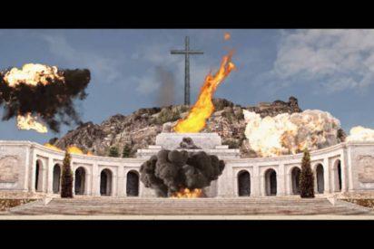 El vídeo de la bomba sobre el Valle de los Caídos cuya mecha encienden Torra y Sánchez