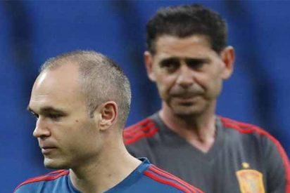 Iniesta pone a caer de un burro a Hierro como seleccionador español en el Mundial de Rusia