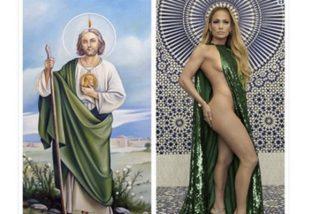 Las redes se descojonan de Jennifer López por esta foto: ¿JL o San Judas Tadeo?