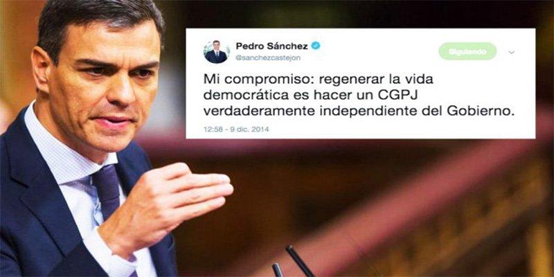 Poder Judicial: La jeta de PSOE y Podemos y la dignidad de Ciudadanos