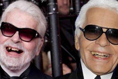 El diseñador Karl Lagerfel, gurú de la elegancia, pierde hasta los dientes